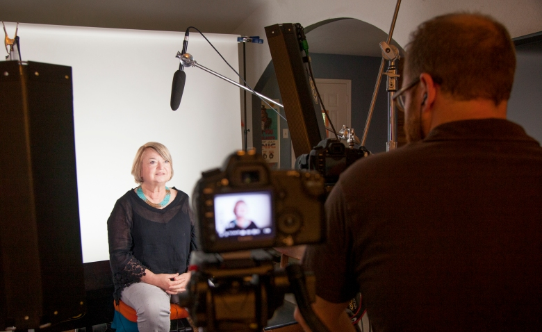 "Claire Wilson is interviewed for ""Tower"""