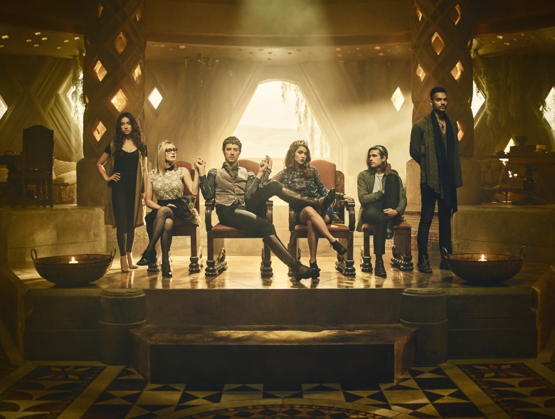 "Stella Maeve, Olivia Taylor Dudley, Hale Appleman, Summer Bishil, Jason Ralph and Arjun Gupta, ""The Magicians"""