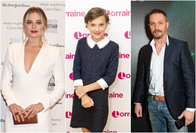 Margot Robbie Millie Bobby Brown Tom Hardy