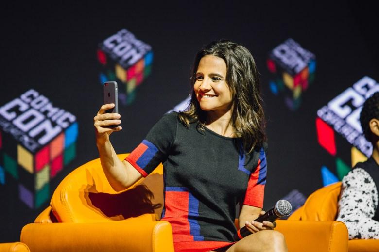 Netflix Panel @ CCXP 2016, Brazil Comic Con in São Paulo. Bianca Comparato, 3%. (photo Pedro Saad/Netflix)