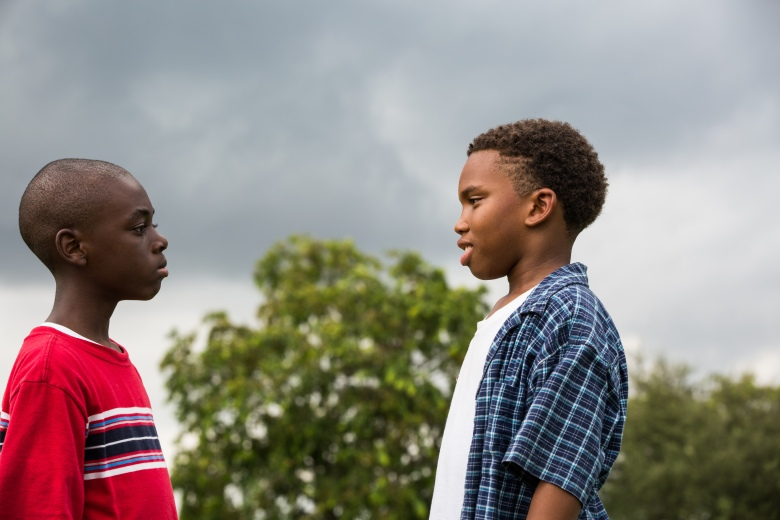 "Alex Hibbert and Jaden Piner in ""Moonlight"""