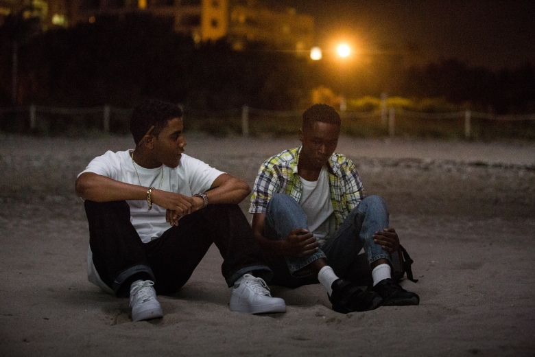 "Jharrel Jerome and Ashton Sanders in ""Moonlight"""