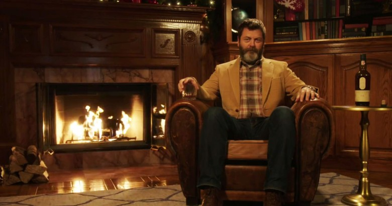 Nick Offerman Yule Log