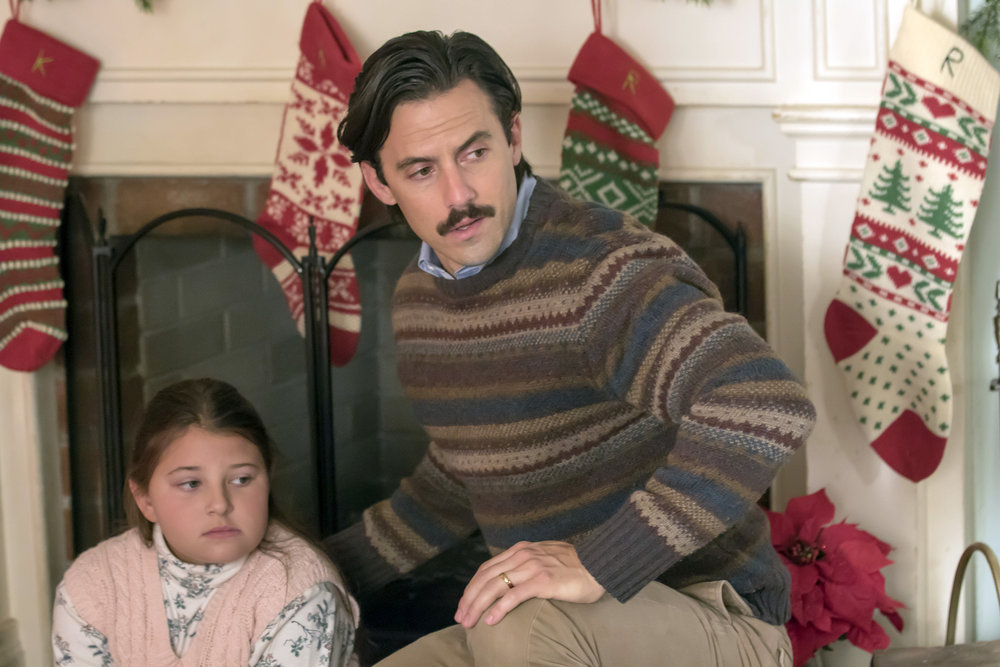 "THIS IS US -- ""Last Christmas"" Episode 110 -- Pictured: (l-r) Mackenzie Hancsicsak as 8 year old Kate, Milo Ventimiglia as Jack"