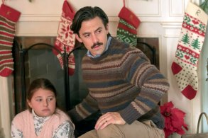 """THIS IS US -- """"Last Christmas"""" Episode 110 -- Pictured: (l-r) Mackenzie Hancsicsak as 8 year old Kate, Milo Ventimiglia as Jack"""