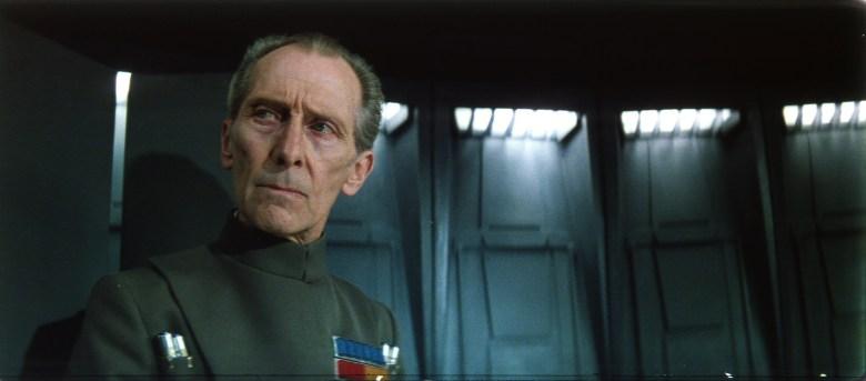 Peter Cushing as Grand Moff Tarkin in Star Wars