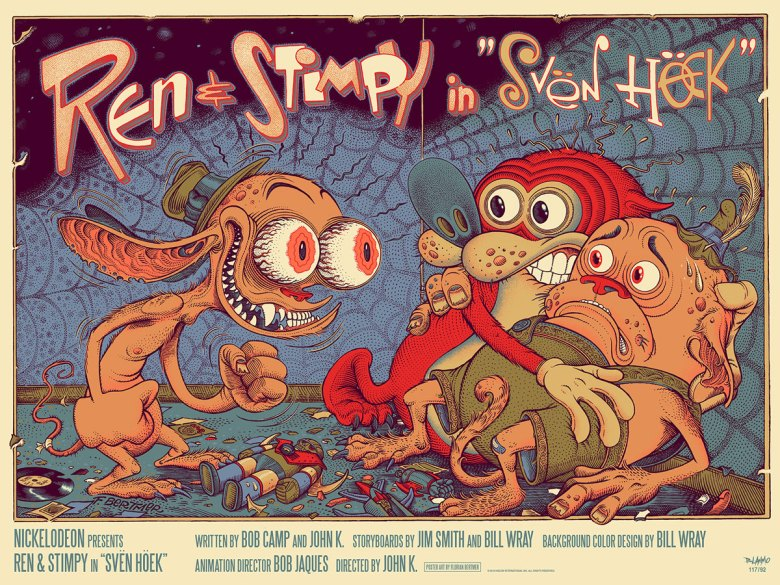 Ren and Stimpy Mondo print