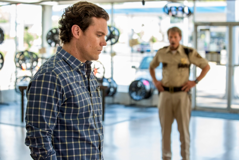 J.D. Evermore as Sheriff Carl Daggett, Clayne Crawford as Ted Talbot Jr. - Rectify Season 4, Episode 8