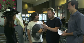 Jason Schwartzman James Corden Starbucks Theater