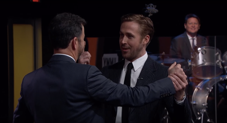 "Ryan Gosling and Jimmy Kimmel on ""Jimmy Kimmel Live!"""