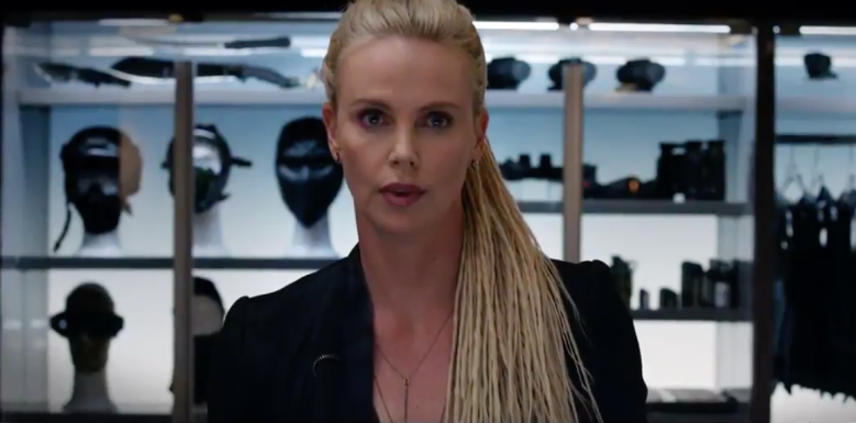 Charlize Theron in the Fate of the Furious