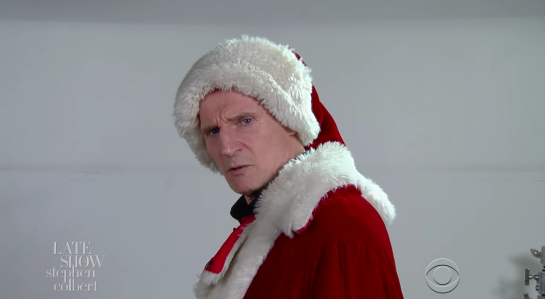 Here's the Liam Neeson Santa Claus Audition Tape You Didn't Know You Needed — Watch