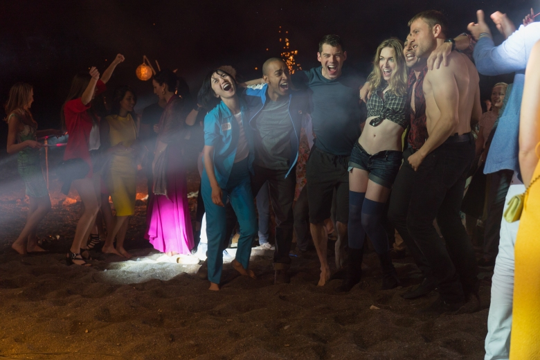 "Doona Bae, Toby Onwumere, Brian J. Smith, Jamie Clayton, Max Riemelt and Miguel Angel Silvestre in ""Sense8."""