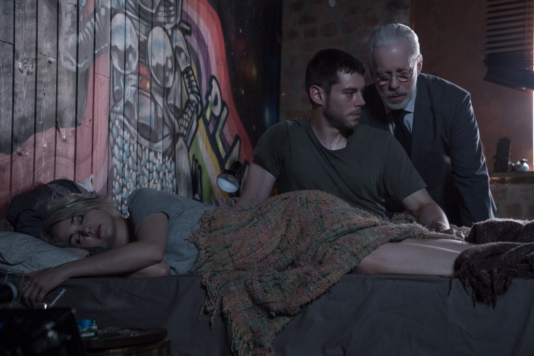 "Tuppence Middleton, Brian J Smith and Terrence Mann in ""Sense8."""