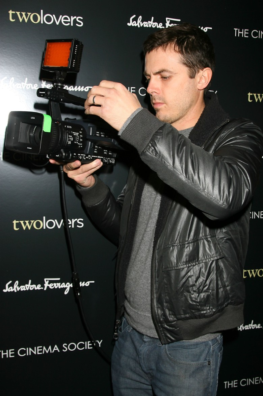 Casey Affleck at a February 2009 screening of Joaquin Phoenix