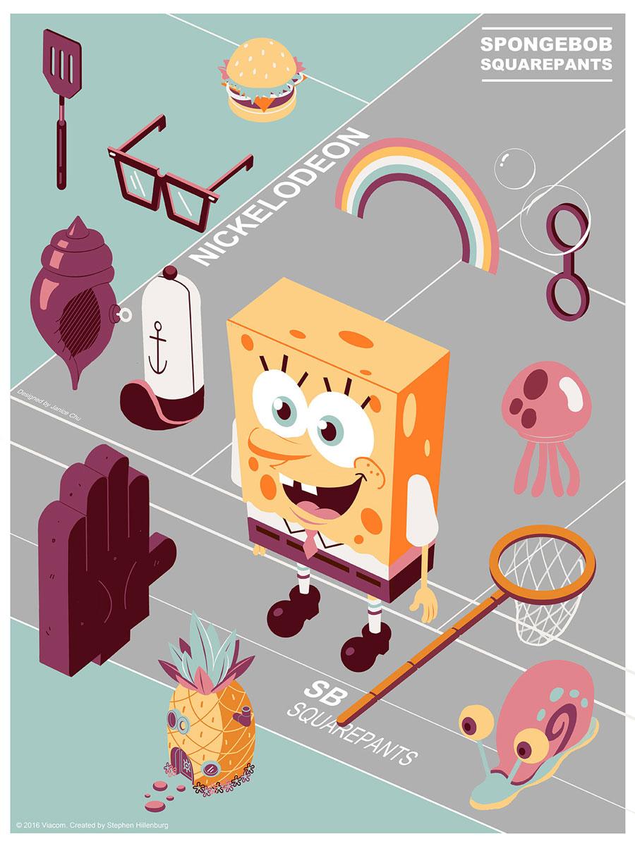 Spongebob Squarepants Mondo print