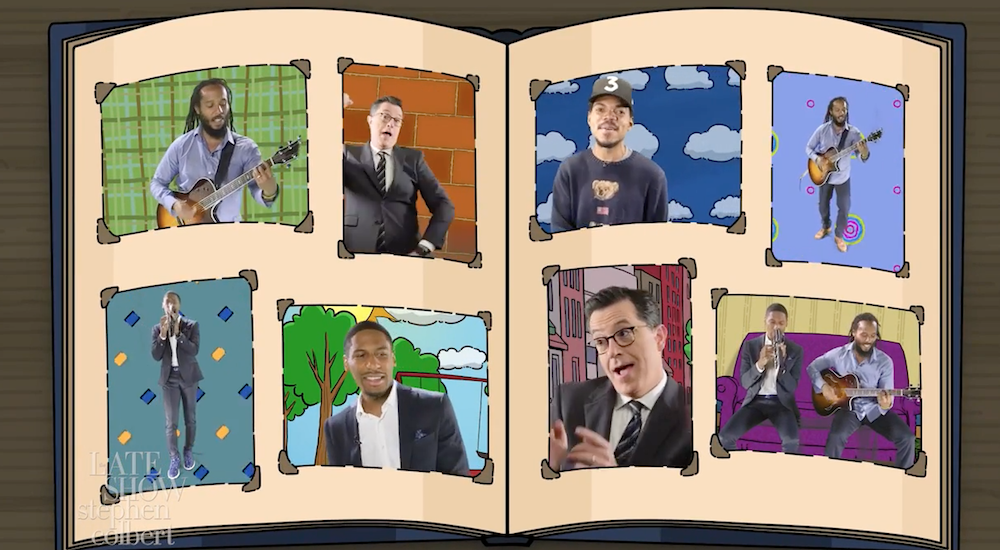 Stephen Colbert, Chance The Rapper and More Perform the 'Arthur' Theme Song – Watch