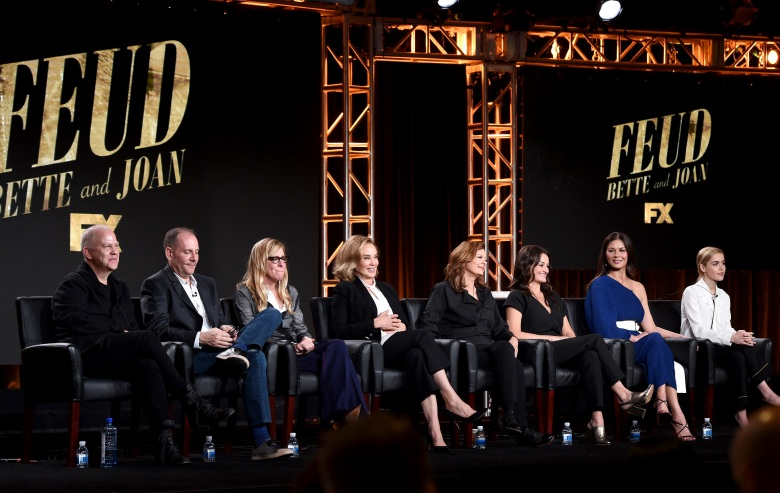 Ryan Murphy, Tim Minear, Dede Gardner, Jessica Lange, Susan Sarandon, Alison Wright, Catherine Zeta-Jones and Kiernan Shipka