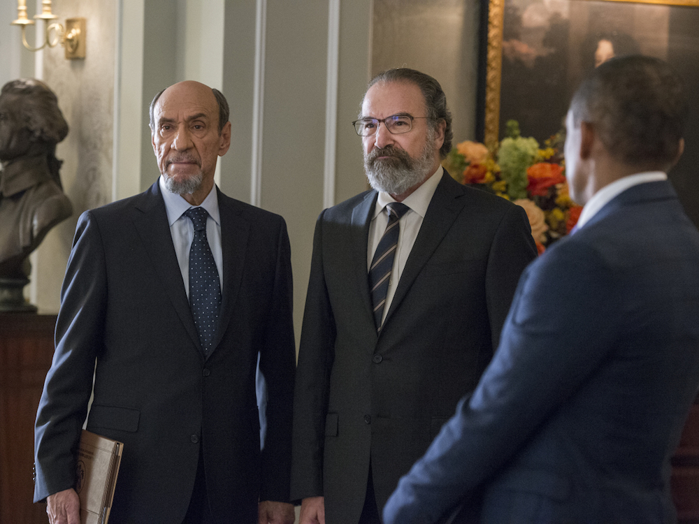 F. Murray Abraham as Dar Adal and Mandy Patinkin as Saul Berenson in HOMELAND Season 6, Episode 1