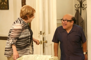 "IT'S ALWAYS SUNNY IN PHILADELPHIA ""Old Lady House: A Situation Comedy"" – Season 12, Episode 3 Lynne Marie Stewart as Mrs. Kelly, Danny DeVito as Frank"