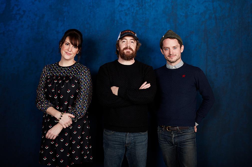 Melanie Lynskey, director Macon Blair and Elijah Wood