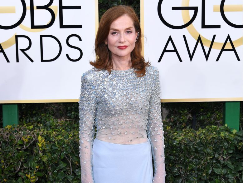 Isabelle Huppert at the 74th Annual Golden Globe Awards