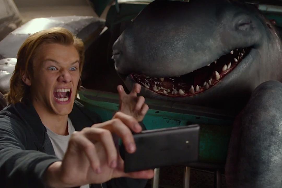 Lucas Till and Creech in Monster Trucks