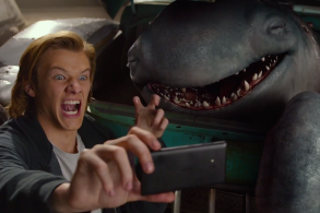 Lucas Till and Creech in Monster Trucks