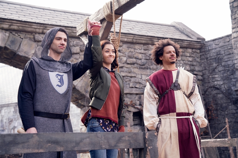 """MAN SEEKING WOMAN -- """"Horse"""" -- Season 3, Episode 3 (Airs January 18, 10:30 pm e/p) Pictured (l-r): Katie Findlay as Lucy, Jay Baruchel as Josh, Eric Andre as Mike. CR: Russ Martin/FXX"""