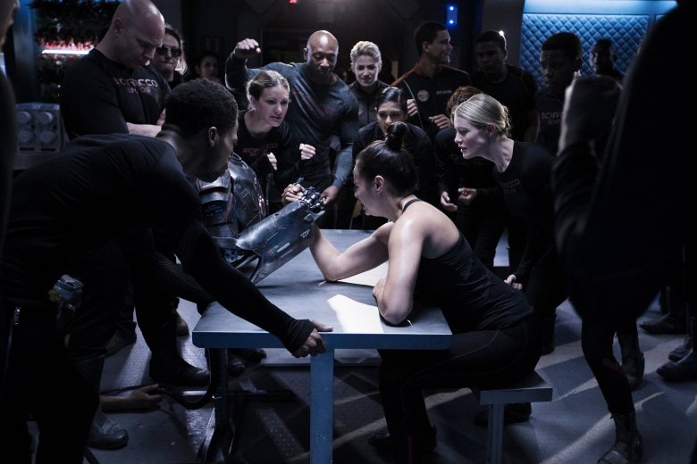 "THE EXPANSE -- ""Safe"" Episode 201 -- Pictured: Frankie Adams as Bobbie Draper -- (Photo by: Rafy/Syfy)"