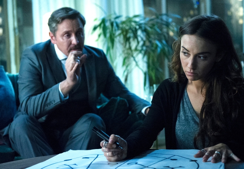 "Charles Mesure as The Beast, Stella Maeve as Julia in ""The Magicians"""