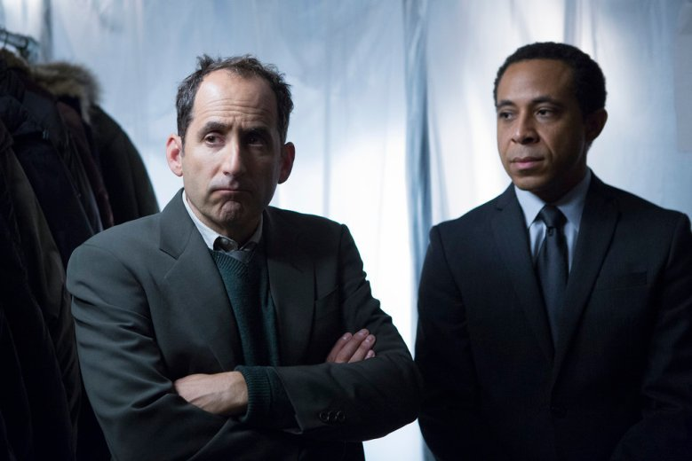 "COLONY -- ""Preoccupation"" Episode 201 -- Pictured: Peter Jacobson as Proxy Alan Snyder -- (Photo by: Isabella Vosmikova/USA Network)"