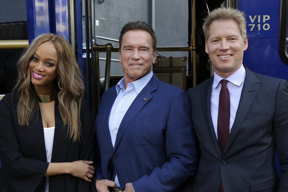 THE NEW CELEBRITY APPRENTICE Tyra Banks, Arnold Schwarzenegger, Patrick Knapp
