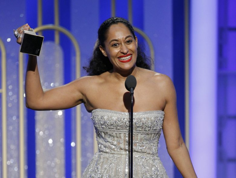 74th ANNUAL GOLDEN GLOBE AWARDS -- Pictured: Tracee Ellis Ross, Winner, Best Actress - Television Series - Musical or Comedy, at the 74th Annual Golden Globe Awards held at the Beverly Hilton Hotel on January 8, 2017 -- (Photo by: Paul Drinkwater/NBC)