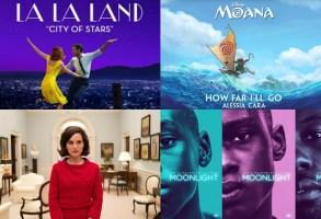 Oscar Music 2017 La La Land Jackie Moonlight Moana