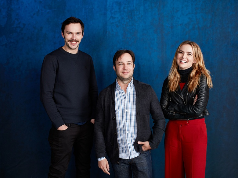 Nicholas Hoult, director Danny Strong, Zoey Deutch