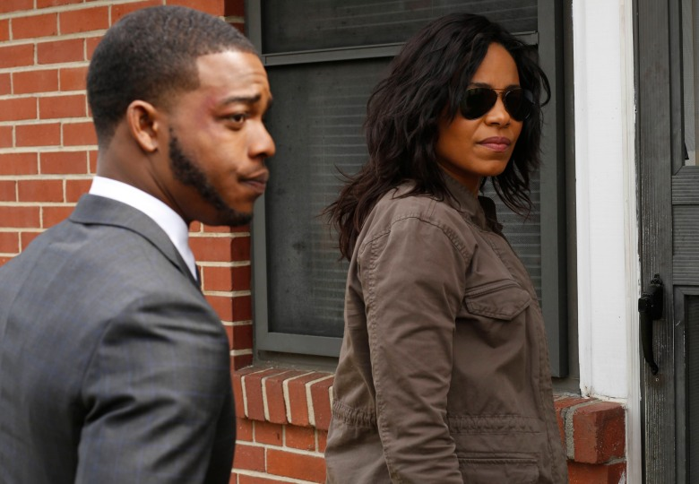 SHOTS FIRED: L-R: Stephan James and Sanaa Lathan in SHOTS FIRED premiering midseason on FOX. ©2016 Fox Broadcasting Co. CR: FOX