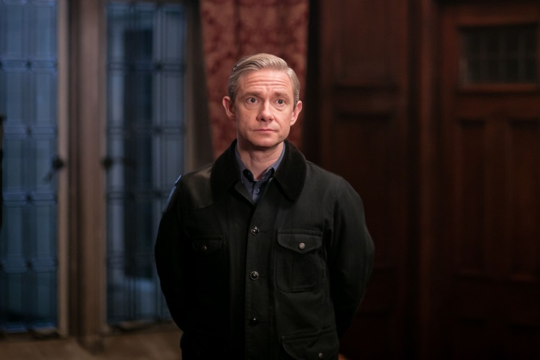Sherlock, Season 4 MASTERPIECE Mystery! on PBS Sunday, January 15th at 7pm ET Picture shows: John Watson (MARTIN FREEMAN) For editorial use only. Not for use on social media. Courtesy of Laurence Cendrowicz/Hartswood Films for MASTERPIECE