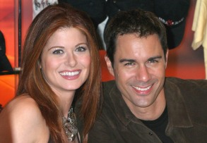 Mandatory Credit: Photo by Greg Allen/REX/Shutterstock (496501k) Debra Messing and Eric McCormack 'WILL AND GRACE,LET THE MUSIC OUT' ALBUM SIGNING, NBC STORE, NEW YORK, AMERICA - 15 SEP 2004