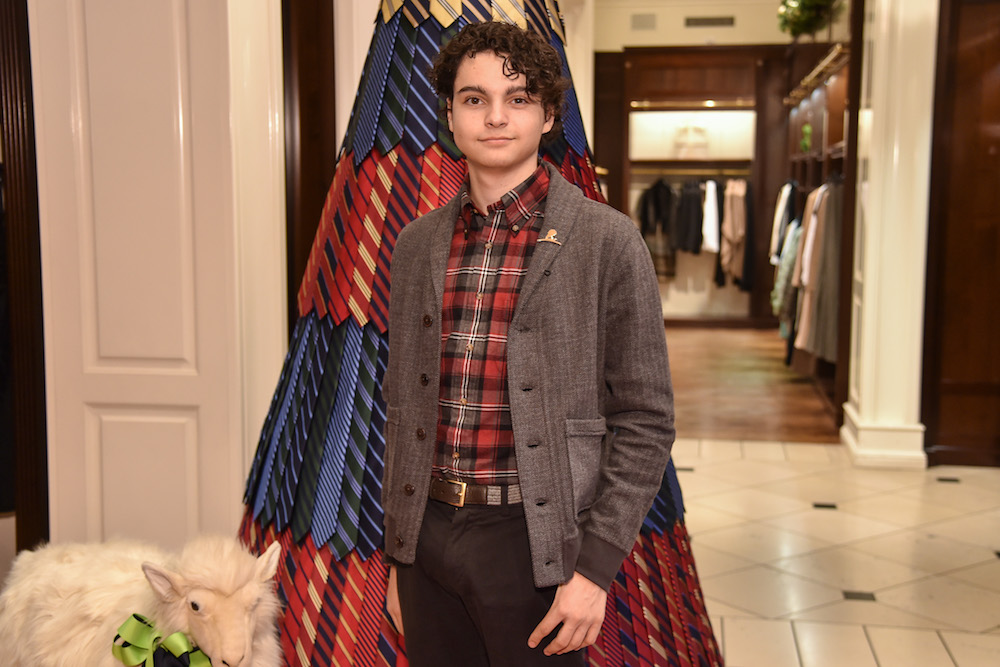Max Burkholder St. Jude Children's Research Hospital Holiday Party arrivals, Brooks Brothers, Los Angeles, California - 05 Dec 2015