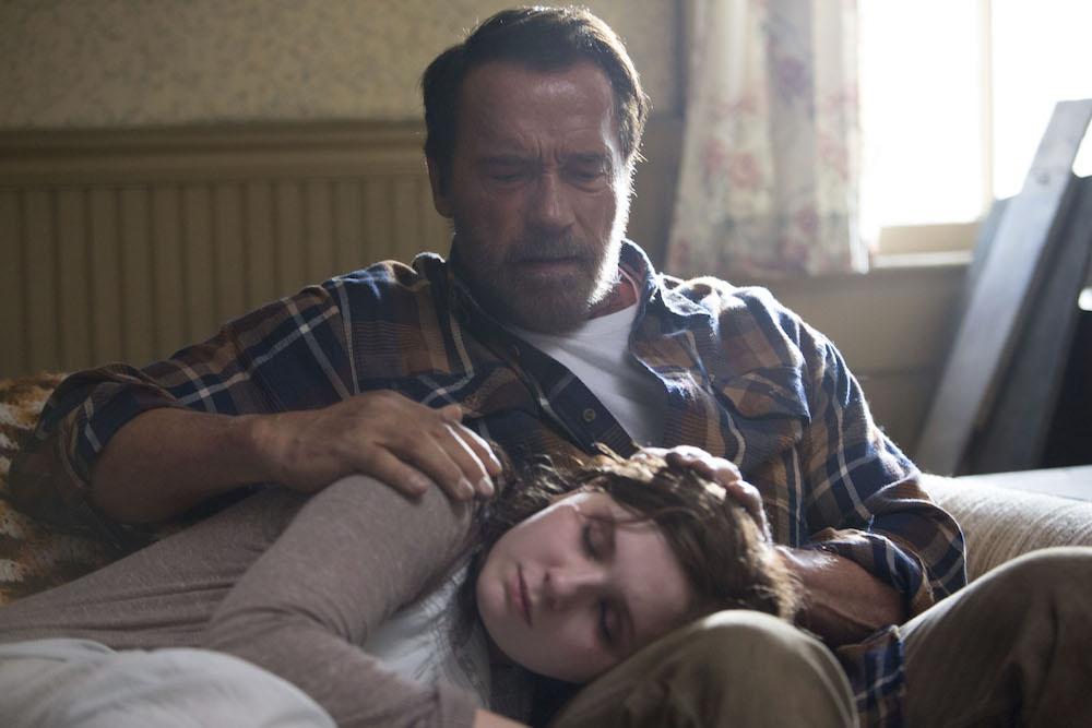 Arnold Schwarzenegger, Abigail Breslin Maggie - 2015 Director: Henry Hobson Lionsgate/Roadside Attractions/Grindstone Entertainment Group USA/SWITZERLAND Scene Still Horror