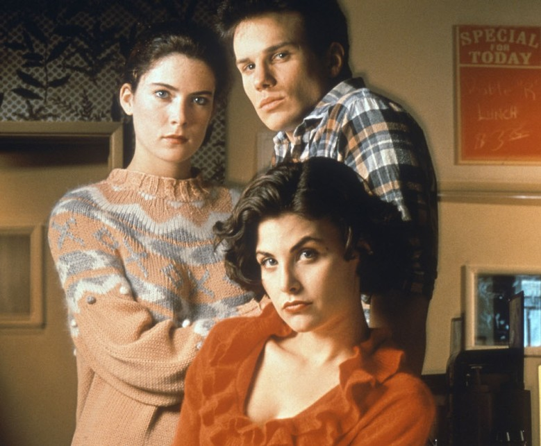 "Lara Flynn Boyle, James Marshall and Sherilyn Fenn in ""Twin Peaks."""