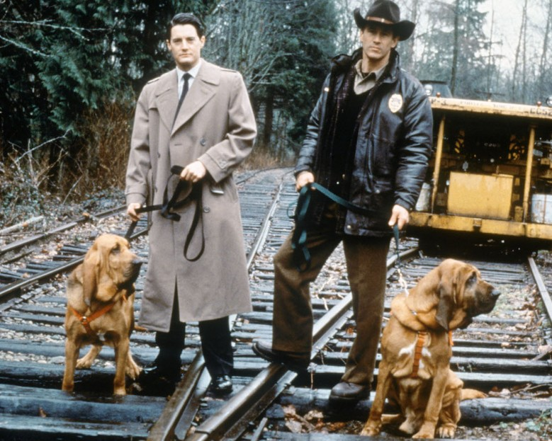 "Kyle Maclachlan and Michael Ontkean in ""Twin Peaks."""