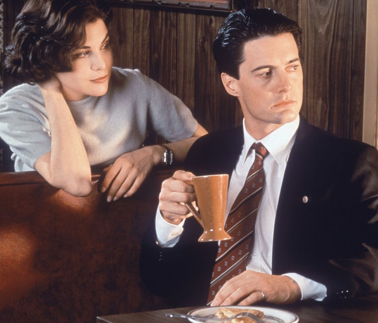 "Sherilyn Fenn and Kyle MacLachlan in ""Twin Peaks."""