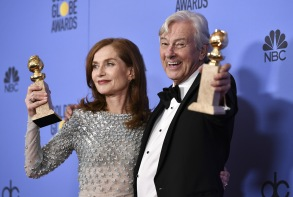 Isabelle Huppert Golden Globe 2017