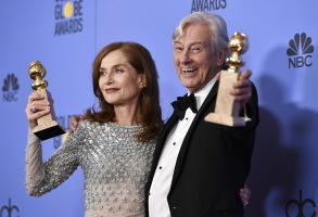 Isabelle Huppert Golden Globe 2017