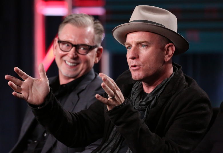 Mandatory Credit: Photo by Buchan/Variety/REX/Shutterstock (7820625ab) Warren Littlefield and Ewan McGregor FX's 'Fargo' Panel, TCA Winter Press Tour, Los Angeles, USA - 12 Jan 2017