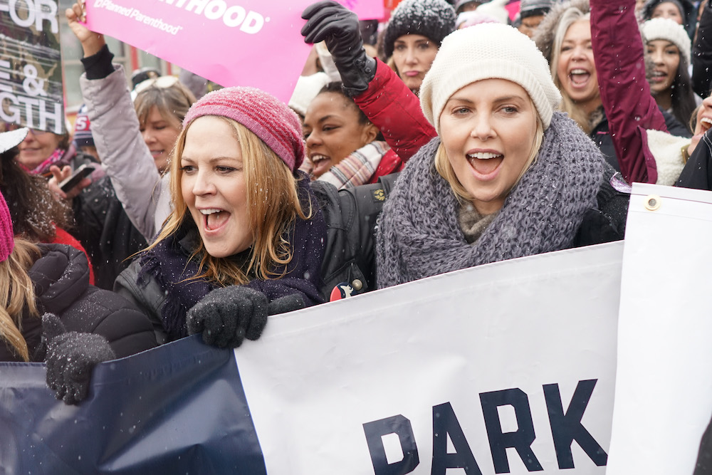 Mary McCormack Charlize Theron Women's March