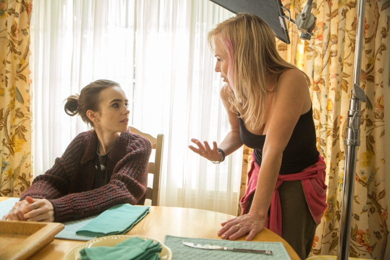 "Director Marti Noxon & ""To the Bone"" star Lily Collins"