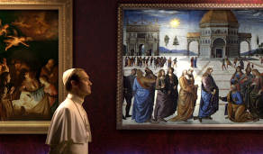"""Jude Law in """"The Young Pope"""" opening title sequence"""